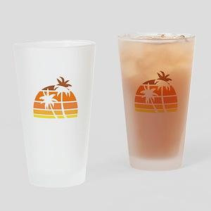 Vintage Beach Drinking Glass