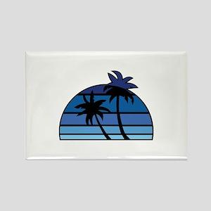 Vintage Beach Rectangle Magnet
