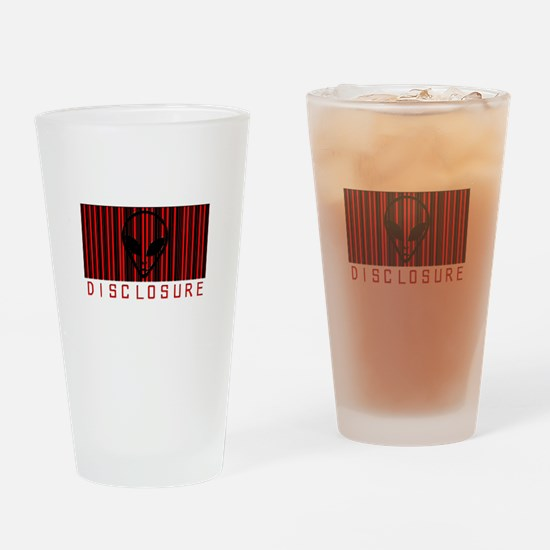 Alien Disclosure Drinking Glass