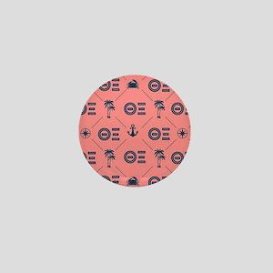 Theta Xi Coral Pattern Mini Button
