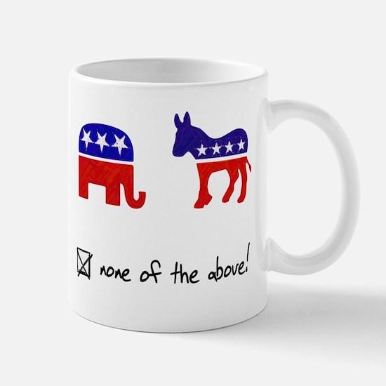 No Republicans or Democrats Mug
