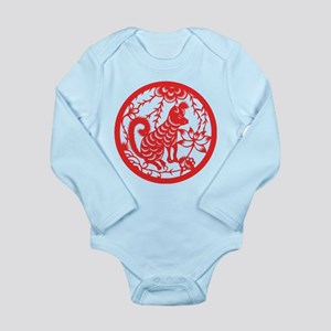 Dog Zodiac Long Sleeve Infant Bodysuit