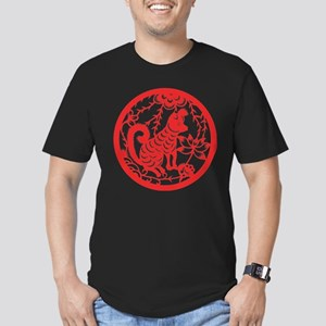 Dog Zodiac Men's Fitted T-Shirt (dark)