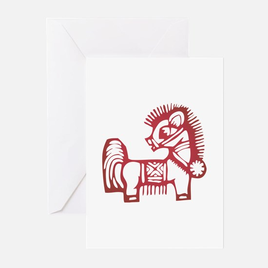Horse Zodiac Greeting Cards (Pk of 10)