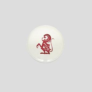 Monkey Zodiac Mini Button