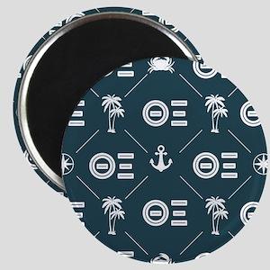 Theta Xi Blue Pattern Magnet