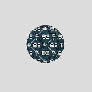 Theta Xi Blue Pattern Mini Button