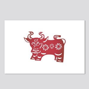 Ox Zodiac Postcards (Package of 8)