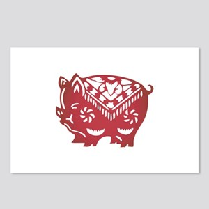 Pig Zodiac Postcards (Package of 8)