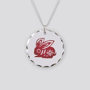 Rabbit Zodiac Necklace Circle Charm