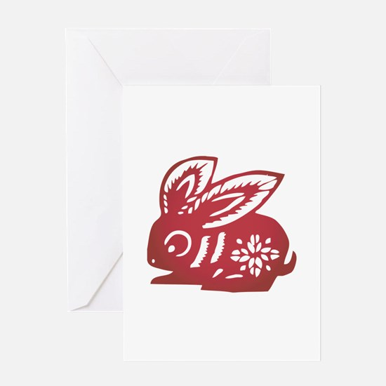 Rabbit Zodiac Greeting Card