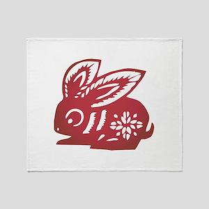 Rabbit Zodiac Throw Blanket