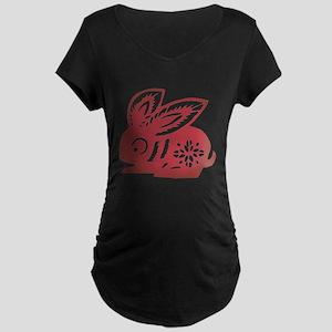 Rabbit Zodiac Maternity Dark T-Shirt