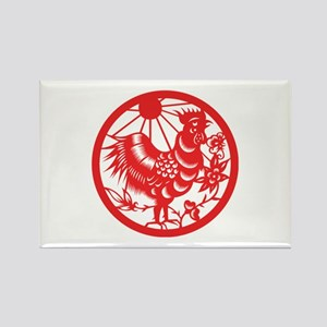 Rooster Zodiac Rectangle Magnet
