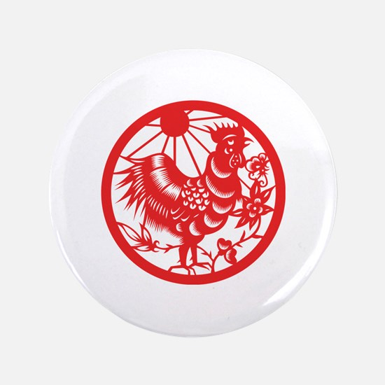 """Rooster Zodiac 3.5"""" Button (100 pack)"""