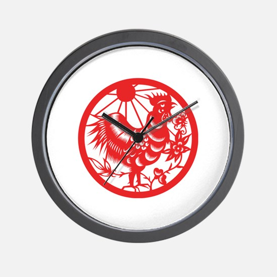 Rooster Zodiac Wall Clock