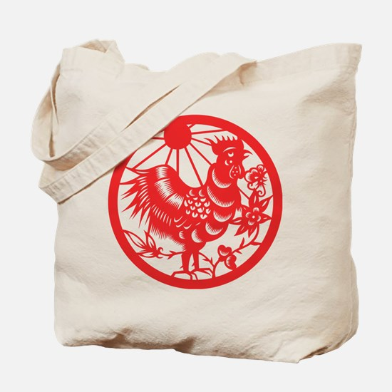 Rooster Zodiac Tote Bag