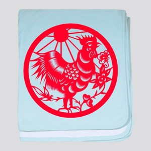 Rooster Zodiac baby blanket
