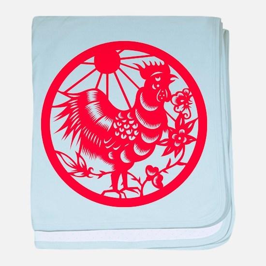 Rooster Zodiac baby blanket