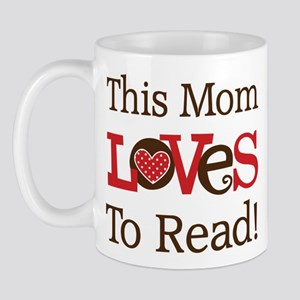 Mom Loves To Read Mug