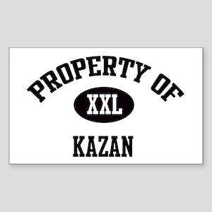 Property of Kazan Rectangle Sticker