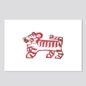 Tiger Zodiac Postcards (Package of 8)
