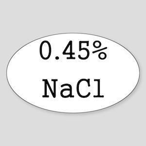 Half Normal Oval Sticker
