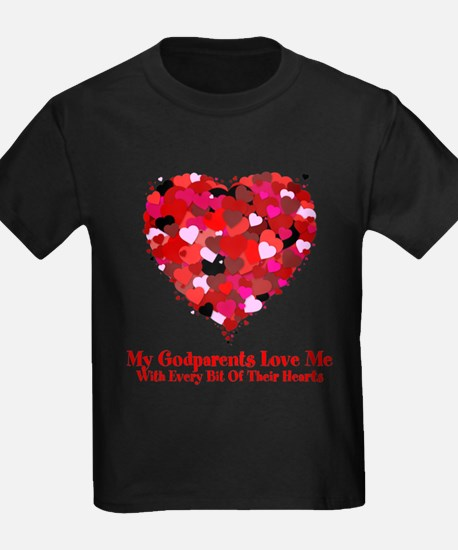 My Godparents Love Me Sprinkled Heart T-Shirt