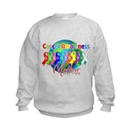 World Cancer Awareness Kids Sweatshirt