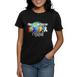 World Cancer Awareness Women's Dark T-Shirt