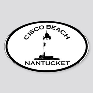 "Cisco Beach ""Lighthouse"" Design. Sticker (Oval)"