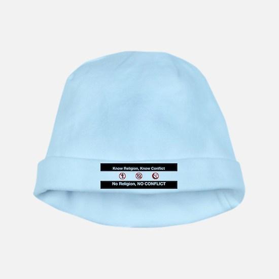 No Religion, No Conflict baby hat
