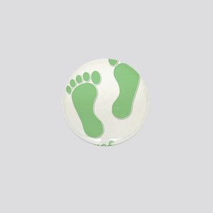Barefoot Green - Foot Prints Mini Button