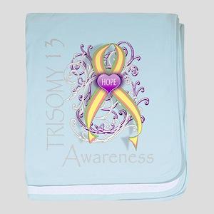Trisomy 13 Awareness baby blanket