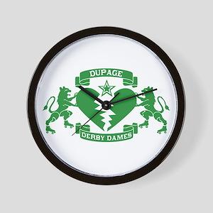 Wall Clock - Green Logo