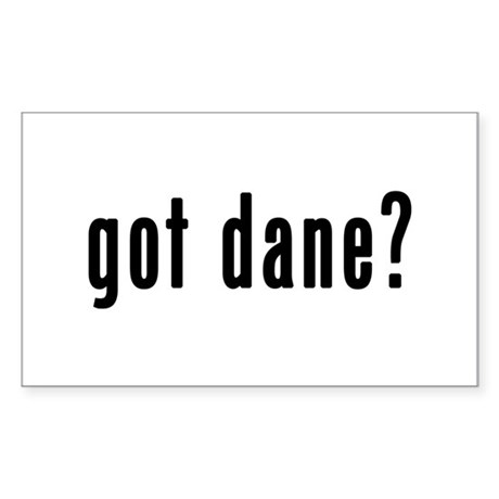 GOT DANE Sticker (Rectangle)