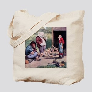 Roosevelt Bears Down on the Farm Tote Bag