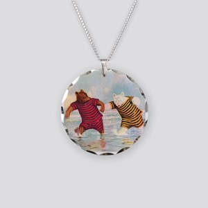Roosevelt Bears on the Beach Necklace Circle Charm
