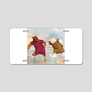 Roosevelt Bears on the Beach Aluminum License Plat