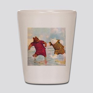 Roosevelt Bears on the Beach Shot Glass