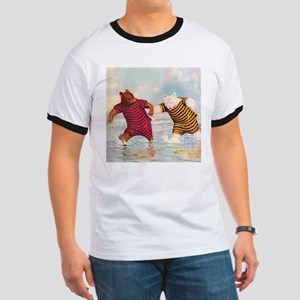 Roosevelt Bears on the Beach Ringer T