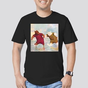 Roosevelt Bears on the Beach Men's Fitted T-Shirt
