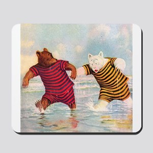 Roosevelt Bears on the Beach Mousepad