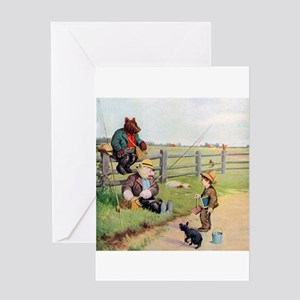 Roosevelt Bears Go Fishing Greeting Card
