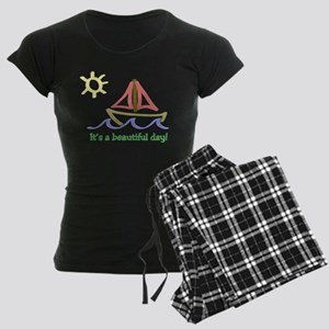It's a Beautiful Day - Sail B Women's Dark Pajamas