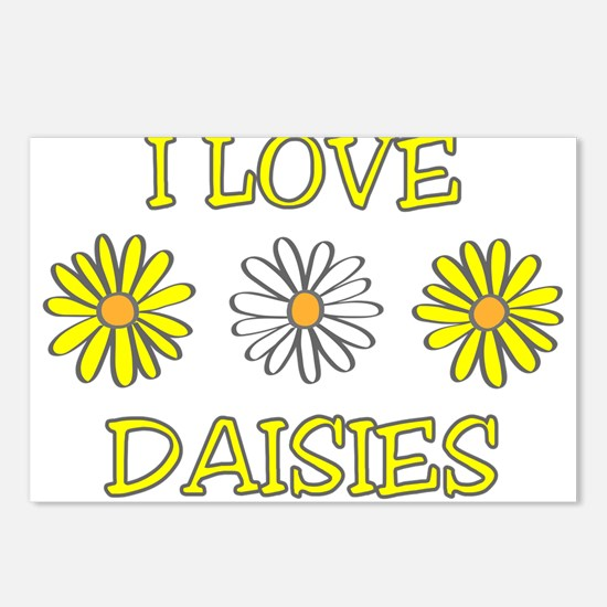 I Love Daisies - Daisy Flower Postcards (Package o