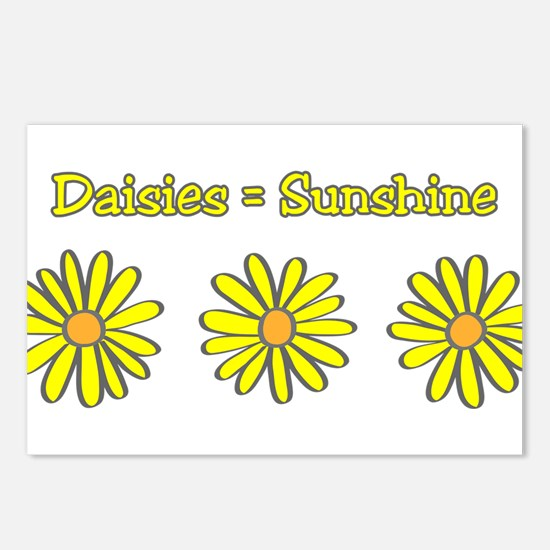 Daisies equal Sunshine! Postcards (Package of 8)