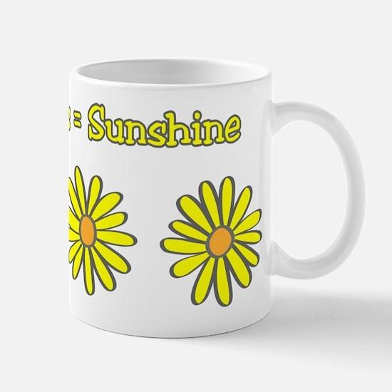 Daisies equal Sunshine! Mug