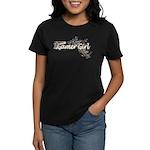 Gamer Girl -Gun & Swirls Women's Dark T-Shirt
