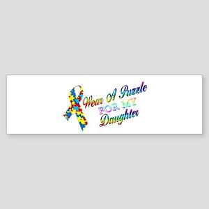 I Wear A Puzzle for my Daught Sticker (Bumper)